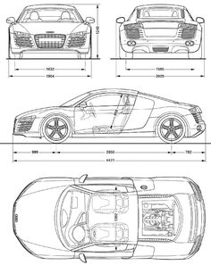 Blueprints de autos viejos y nuevos | Ferrari, Cars and Car drawings