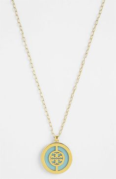Tory Burch Long Logo Pendant Necklace | Nordstrom