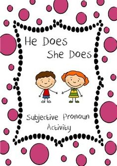 I made this activity for little ones learning to use the subjective pronouns 'he' and 'she'.The pack includes an instructions page so it is perfect for use in the clinic or as a homework task.No reading required so it is perfect for pre-readers. How to use this resource (quoted from the instructions page):1.Cut out the baskets, being careful not to cut along the solid lines.2.Fold the baskets along the solid lines.3.Spread glue on the sections labelled glue and stick the baskets onto the pag...