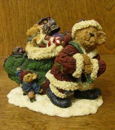 Boyds Bearstones #228391 Klaus Jinglebear w/ Atlas...Christmas is Coming, 1st Ed #CollectibleBearstonefigurine