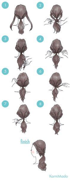 髪の量が多い人におすすめ!ポニーテールヘアアレンジ【イラスト付き】