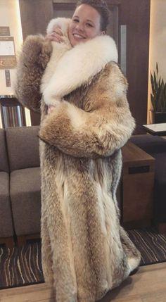 Long Fur Coat, Fur Coats, Coyote Fur Coat, Stunning Brunette, Fox Fur Jacket, Fabulous Furs, Cute Jackets, Great Women, Fur Fashion