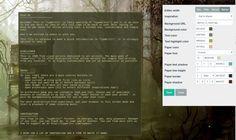 Typwrittr, l'éditeur de texte minimaliste dans le cloud