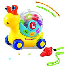 Wishland Lovely Snail with Whistle Interactive Toys for Toddlers Learning and Education Toys >>> Read more at the image link.