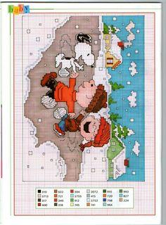 Snoopy, Charlie Brown & Linus Winter