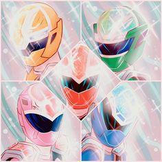 Power Rangers Fan Art, Power Rangers Comic, Power Rangers Series, Power Rangers Megazord, Ranger Armor, Power Rengers, Go Busters, Green Ranger, Kamen Rider Series