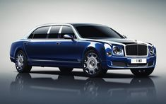 Bentley Mulsanne, 2017, Grand Limousine, blue Bentley, luxury cars