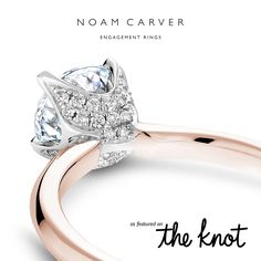 According to TheKnot.com, this two-tone Noam Carver design is the most popular style of the month! ‪#‎TheKnot‬