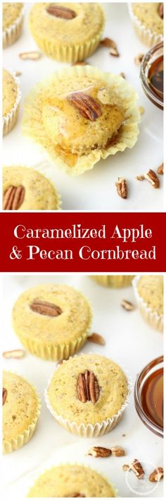 The cornbread is ultra-moist and flavorful thanks to the addition of caramelized apples and pecans, two fall favorites!