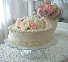 Sier taart met zachte pastel kleuren 20 cm