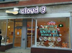 "Cloud 9.  I am very intrigued by this ""Taiwanese Snow Ice"""