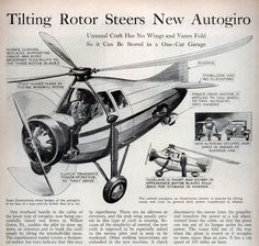 From the October, 1933 issue of Popular Science magazine, comes this look at some advancements in Pitcairn autogiros. While most of the features seem to describe the AC-35, the illustration, with its radial engine and large enclosed cabin, looks a bit like a wingless PA-19.