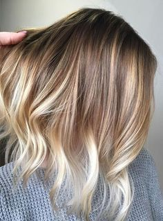 Blonde Balayage with Natural Pretty Hair Color Ideas for Short Hairstyles 2017