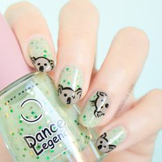 Cute Koala Australia Day Nails – Tutorial