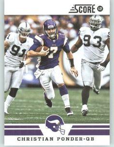 2012 Score Football Card #135 Christian Ponder - Minnesota Vikings (NFL Trading Card) by SCORE. $1.95. 2012 Score Football Card #135 Christian Ponder - Minnesota Vikings (NFL Trading Card)