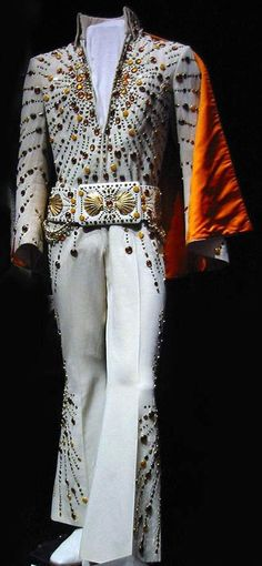 The Orange Target Suit Is Today In Display At Graceland With Cape And Elvis Presley