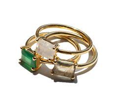 Leah Alexandra Rings, Gem Rings, Summer Rings, Summer Accessories, Gold & Gems / Garance Doré Goods