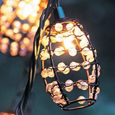 These pretty barrel shaped lights would be great for illuminating my balcony for a dinner for two...