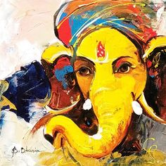 Lord Ganesha Paintings for Sale, Ganesha Art Paintings on Canvas Ganesha Drawing, Lord Ganesha Paintings, Lord Shiva Painting, Ganesha Art, Krishna Painting, Krishna Art, Sri Ganesh, Krishna Images, Lord Krishna