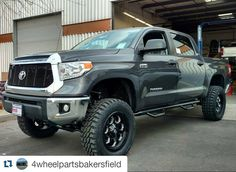 """#Repost @4wheelpartsbakersfield  @dsi_trucks build for @north_bakersfield_toyota got a 6"""" @procompusa Lift on 35"""" XMT2s wrapped around 20"""" @fueloffroad Savage Wheels. @trex_grilles Billet Grille and @nfabinc Nerf Steps! #4wheelpartsbakersfield #4wheelparts #northbakersfieldtoyota #procomp #procompusa #trexgrilles #nfabinc #nfab #fueloffroad #toyota #tundra #dsibuild #dsitrucks"""