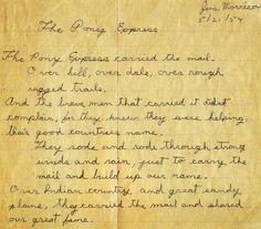 Jim Morrison poem 1954