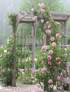 Garden gates 668221663439455947 - TOP 10 DIY Garden Gates Ideas Source by coribank Cottage Garden Design, Cottage Garden Plants, Pink Garden, Dream Garden, Garden Arbor, Garden Trellis, Garden Gates, Garden Landscaping, Garden Arches