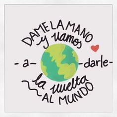 dame la mano y vamos a darle la vuelta al mundo Some Good Quotes, Best Quotes, Mana Frases, Rock Quotes, Thoughts And Feelings, Spanish Quotes, Self Love, Baby Boy Shower, Quotations