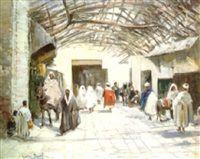Souk à Marrakech by Gaston Jules Louis Durel