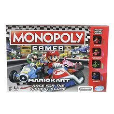 Hasbro's latest twist on Monopoly is a Mario Kart theme. And like last year's Monopoly Gamer, it's no simple reskin of the classic game. Nintendo Mario Kart, Nintendo Switch, Luigi, Family Board Games, Family Boards, Mario Bros., Super Mario, Grand Prix, Mario Kart Characters