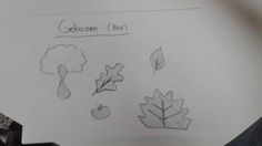 Persoonlijke voorkeuren van elementen in een bos (schetsen)