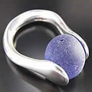 Sea Glass Marble Ring