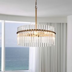 Shop for Casandra Brushed Brass Pendant Crystal Chandelier. Get free delivery at Overstock - Your Online Ceiling Lighting Store! Get in rewards with Club O! Chandelier Design, Rectangle Chandelier, Pendant Chandelier, Brass Pendant, Crystal Pendant, Modern Chandelier, Chandelier Lighting, Mobile Chandelier, Chandelier Makeover