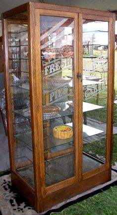 Fabulous Bakery Pie & Cake Display Cabinet, BRASS LANTERN ANTIQUES