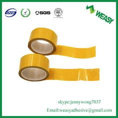 transparent PET double-sided tape, high tensile strength, transparent PET film as a substrate, coated on both sides high viscosity, high cohesive strength adhesive double-sided tape.