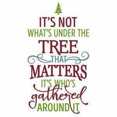 It's not what's under the tree...