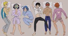 Sleepover fun with Hakogaku---Toudou though, I'm not even surprised.