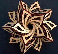 La intersección de planos permite formas creativas fabricadas en tablero de fibras