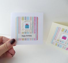 Two cards, Happy Birthday Cards, pack of two, girl's birthday, boy's birthday cards. Handmade cards