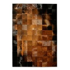 Pure Rugs Patchwork Cowhide Park Normand Rug | AllModern