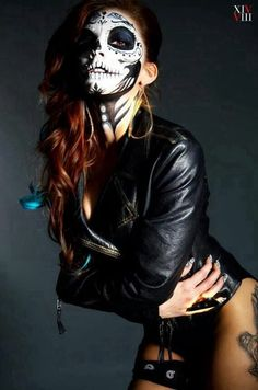 day of the dead makeup, touch of hotness included