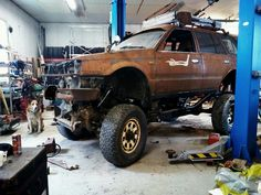 Postapocalyptic mazda with nissan kingcab chassis and compound turbo diesel Post Apocalyptic, Mazda, Nissan, Diesel, Antique Cars, Vehicles, Diesel Fuel, Vintage Cars, Car