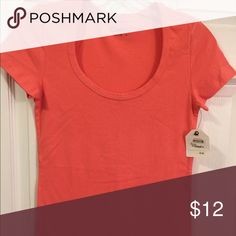 Nordstrom Caslon Coral Scoop Neck T-Shirt Top Sz S Nordstrom Caslon brand Coral top. New with Tags. MEASUREMENTS - Bust 15, Length 25.5. MATERIAL - 57% Cotton, 38% Modal, 5% Spandex.                                   *******CHRISTMAS BLOWOUT SALE!! ALL ITEMS ONLY 10$ !! NEW ITEMS AS WELL, ANN TAYLOR, WHITE HOUSE BLACK MARKET, TALBOTS, BANANA AND MORE!!! ( No offers will be accepted but  bundles get 10% extra !!) Caslon Tops Tees - Short Sleeve