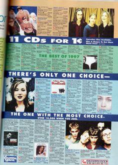 Columbia House (seventeen magazine, 1998)