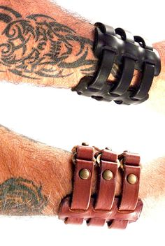 HIs fave...Hook Leather Cuff Arm Band Choice of Antique by SexySkinsLeather, $104.50