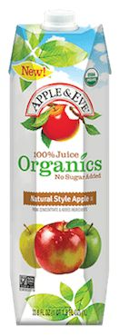#Contest ##QuenchersAdventures Apple & Eve Organics Natural Style Apple 100% Juice. Delicious blend of real tart and sweet apples.