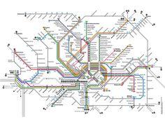 visualcomplexity.com | Frankfurt U- and S-Bahn route map