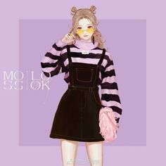 Discovered by immeizuo. Find images and videos about anime, anime girl and pixiv on We Heart It - the app to get lost in what you love. Look Fashion, Fashion Art, Korean Fashion, Girl Fashion, Fashion Outfits, Fashion Design Drawings, Fashion Sketches, Manga Girl, Anime Art Girl