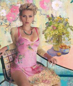 Scarlett Johansson...Pretty in Pink