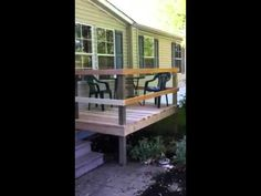 Built the deck in the front yard.
