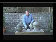 How to Make Concrete Garden Spheres : Coloring Concrete Garden Spheres